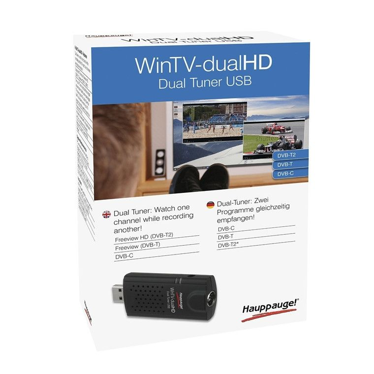 Hauppauge WinTV-dualHD USB2 Stick Dual DVB-T/T2/C Tuner Dual Tuner  Free-to-air and Free-to-air HD TV recorder for PC